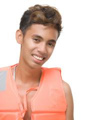 Smiling lifeguard portrait