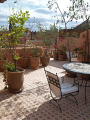 Dachterrasse Riad les Oliviers