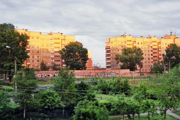 City, evening