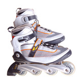 inline skates isolated on white