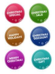 Glossy christmas label