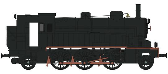 Dampflokomotive Kleinbahn - Seitenansicht