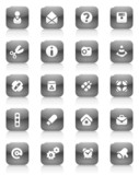 Miscellaneous buttons. Icons for websites and interface poster