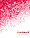 Digital (Red Pixel) Background poster