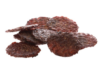Barbeque Grilled Beef Coins Isolated
