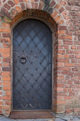 old metalic doors in castle