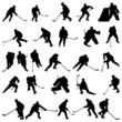 hockey silhouettes set