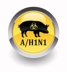 ''H1N1 virus'' glossy icon