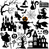 Set of Halloween shapes