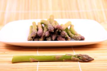 Asparagus plate.