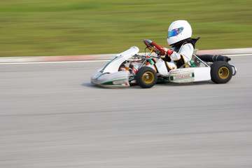 Karting Action (Blurred)