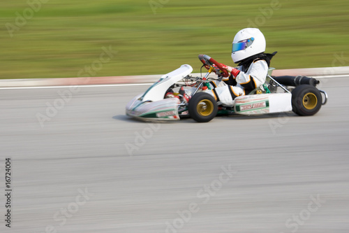 Karting Action (Blurred)