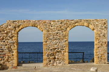 Arches on the sea
