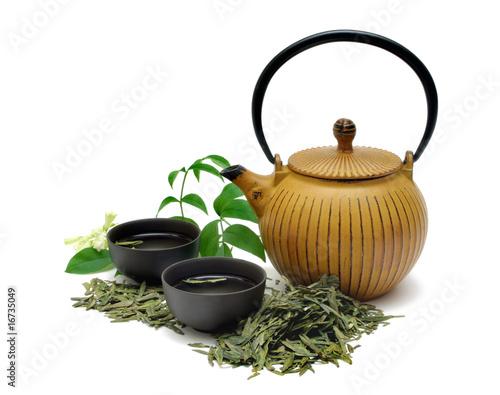 Plexiglas Thee Chinese Longjing green tea