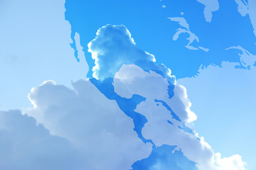 大空とアメリカ地図