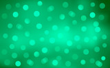 Green Defocussed Blurry Lights Background poster