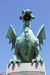 Dragon in the gate of Ljubljana castle, Slovenia
