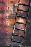 Old rusty metal ladder