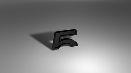Black and white 3D flowing countdown