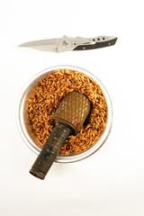 still-life at knife
