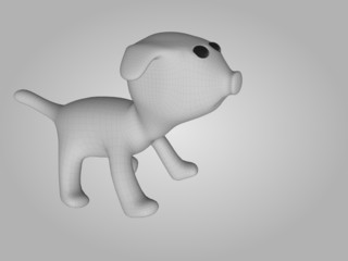 puppy dog isolated on background