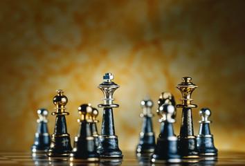 Metallic Chess Pieces