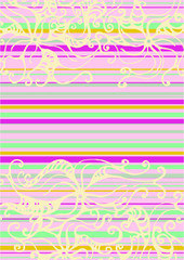 psychodelic flower striped