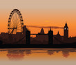 Vector illustration of London skyline at sunset - 16748800