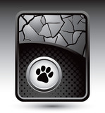 paw print on cracked web template poster