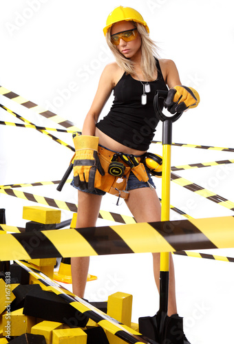 Sexy  woman worker engineer