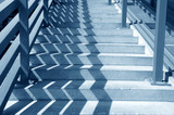 Blue toned staircase poster