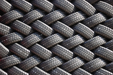 Wall of a rubber tires