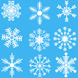 Snowflake set. Vector illustration