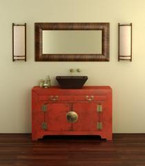 Chinese style bathroom interior