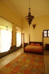 Beautiful authentic arabic bedroom (Morocco)