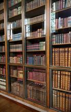 Viktorianischen Bibliothek Bücherregale mit Glastüren