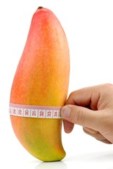 Diet Concept,Take Measurements for Mango.