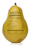 Pear Nutrition Facts poster