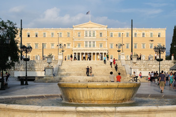 square and parliament greek