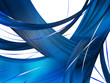 Abstract Blue Composition with lines and curves