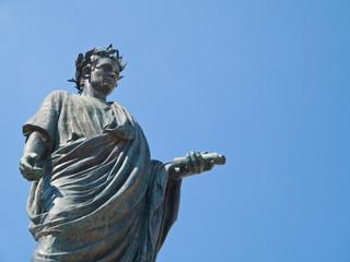 Orazio Flacco statue. Venosa. Basilicata.