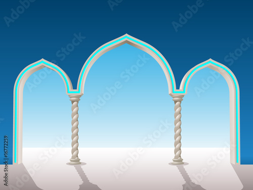 oriental archway background