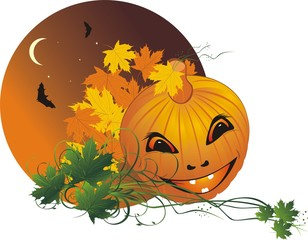 Halloween. Abstract composition for sticker. Vector