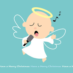 Christmas Angel singing with mike