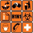 cartello simboli prevenzione influenza h1n1