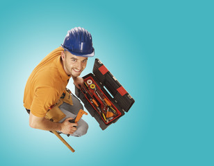 handyman and toolbox
