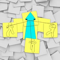 Teamwork - Lifting the Growth Arrow