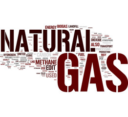 Natural Gas word cloud