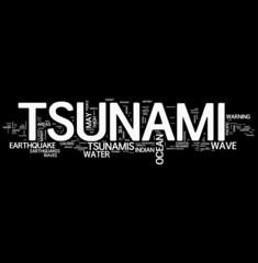 Tsunami word cloud