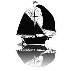 Old fishing  ship
